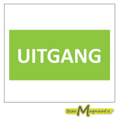 Uitgang Stickers