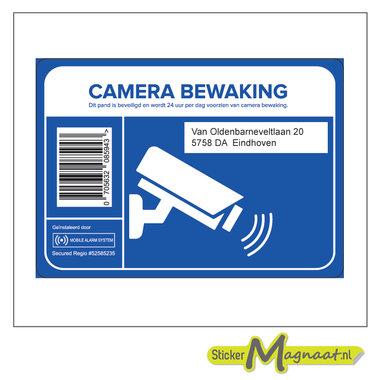 Camerabewakingsticker met adres - 6 Stuks
