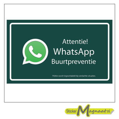WhatsApp stickers buurt
