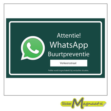 WhatsApp stickers buurt preventie