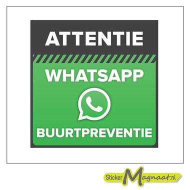 WhatsApp buurt preventie bord stickers