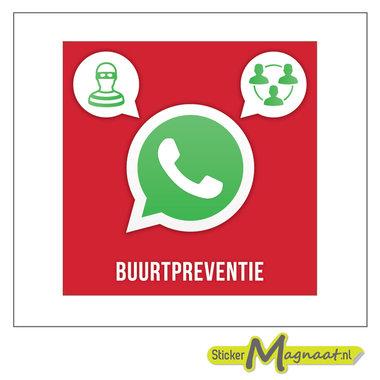 WhatsAppstickers beveiliging buurt preventie