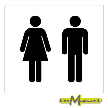 Toiletsticker heren dames