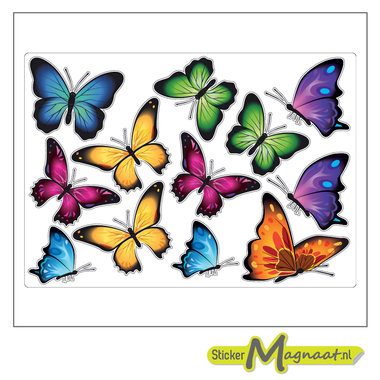 Dieren stickers vlinders