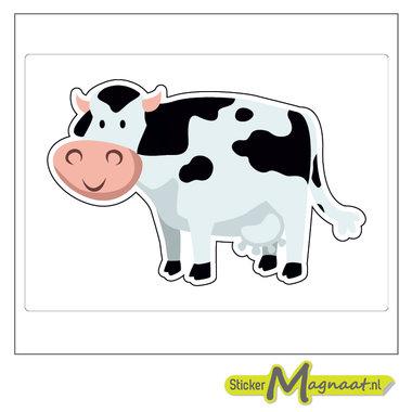 Dieren stickers koe