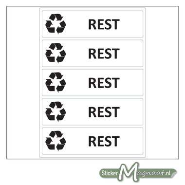 Afval stickers Restafval