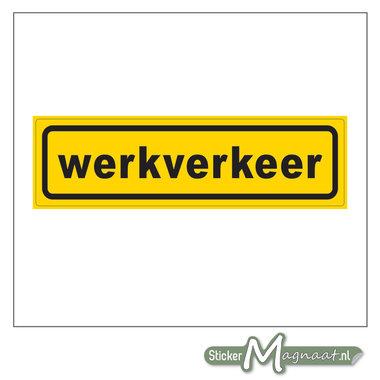 Werkverkeer sticker