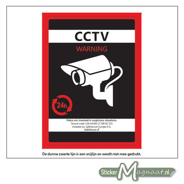 CCTV Camerabewaking Sticker