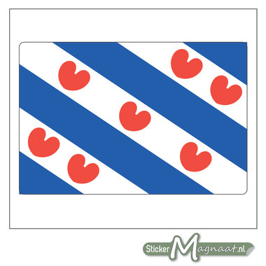 Vlag Friesland Stickers