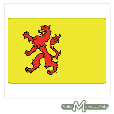 Vlag Zuid-Holland Stickers