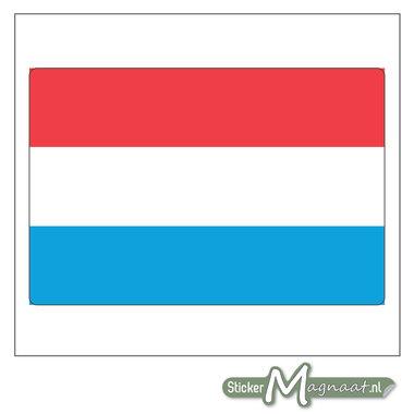 Vlag Luxemburg Sticker