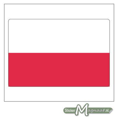 Vlag Polen Sticker