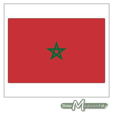 Vlag Marokko Sticker