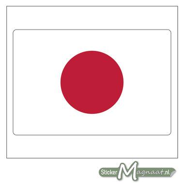 Vlag Japan Sticker