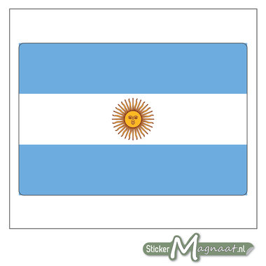 Vlag Argentinië Sticker