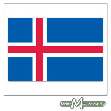 Vlag IJsland Sticker