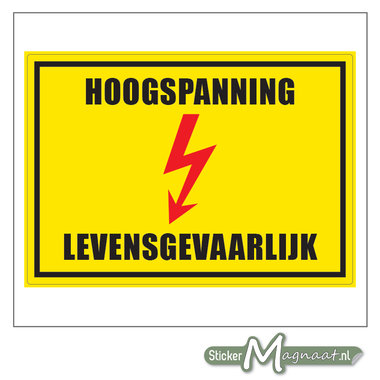 Hoogspanning Sticker