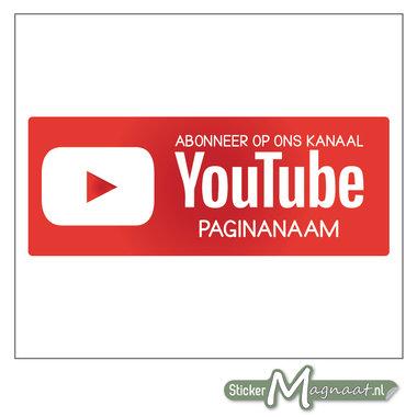 YouTube Sticker met eigen naam