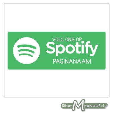 Spotify Sticker met eigen naam