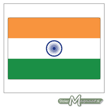 Vlag India Sticker