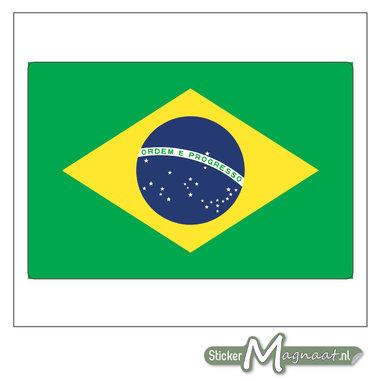 Vlag Brazilië Sticker