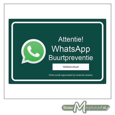 WhatsApp beveiliging stickers buurt preventie