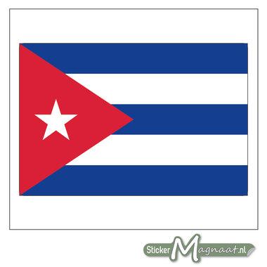 Vlag Cuba Sticker