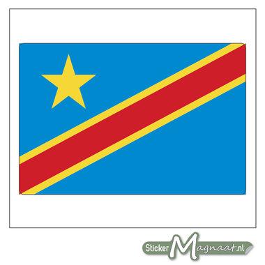Vlag Congo Sticker