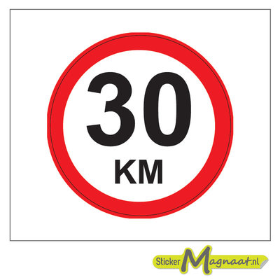 30 KM Bord Stickers
