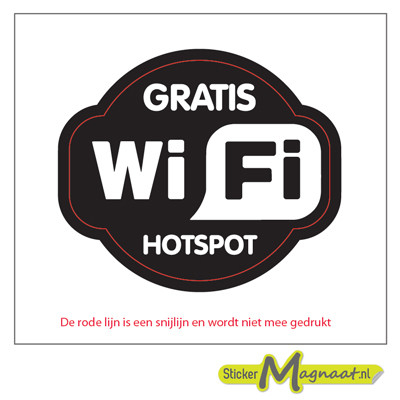 Gratis WiFi Hotspot Stickers