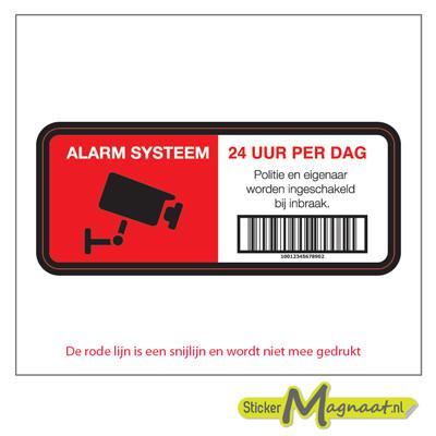 Alarm Systeem Stickers - 6 Stuks