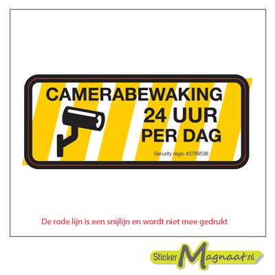 Camera Bewakingsstickers - 6 Stuks