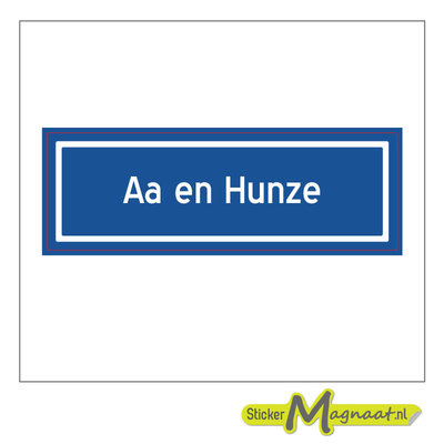 Sticker Aa en Hunze