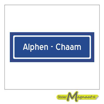 Sticker Alphen chaam