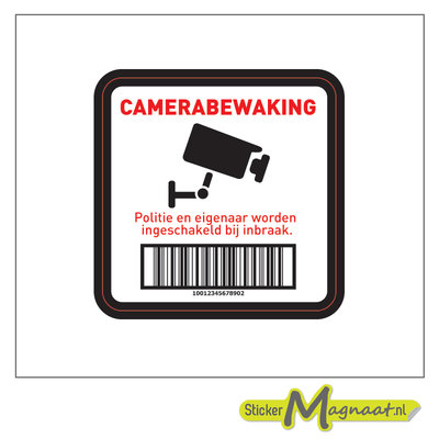 Camerabewakingsticker - 6 Stuks
