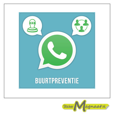 WhatsApp buurtpreventie attentie