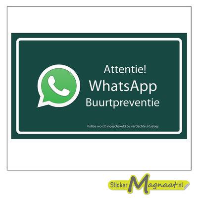 WhatsApp beveiliging stickers buurt