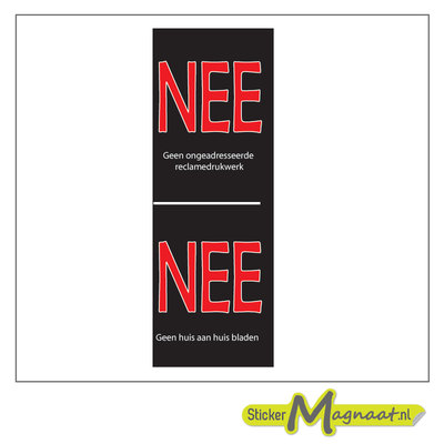 Nee nee deur-sticker-geen-verkoop