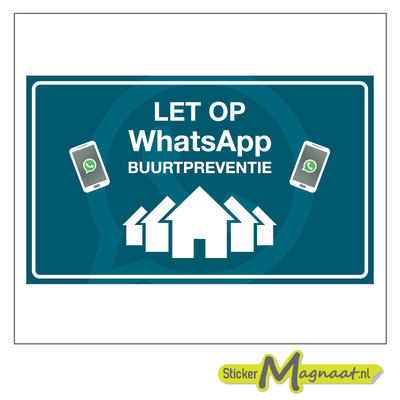 WhatsAppsticker beveiliging wijk preventie