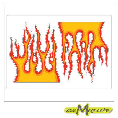 Fietsstickers vlam