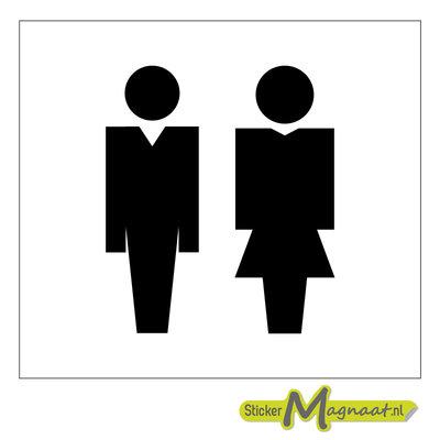 Toiletstickers heren dames