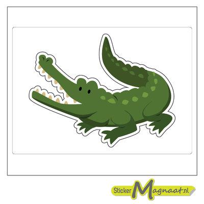 Dieren stickers krokodil
