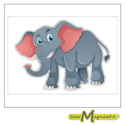 Dieren stickers olifant