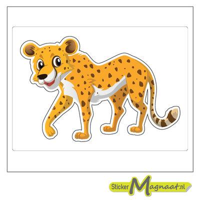 Dieren sticker luipaard