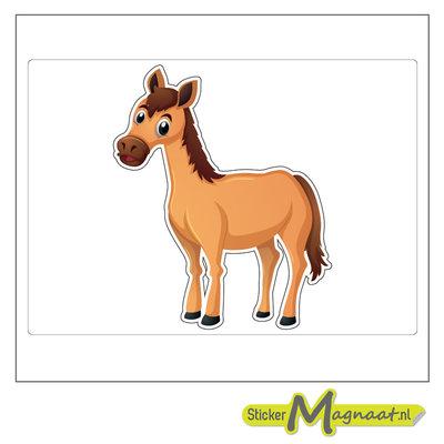 Dieren sticker paard