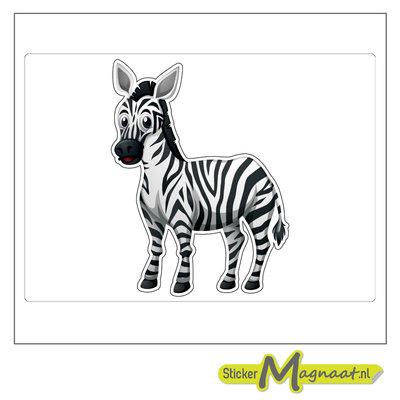 Dieren stickers zebra