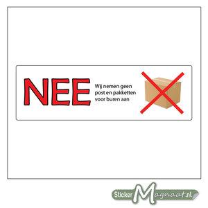 Nee Nee Stickers - Geen Aaname Pakket Voor De Buren