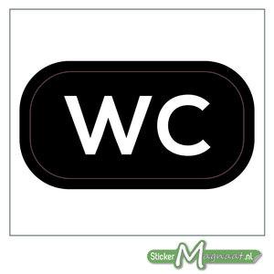 WC Sticker (Zwart)