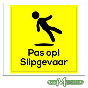 Slipgevaar Sticker