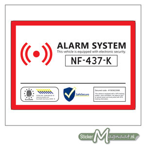 Auto Alarm Sticker